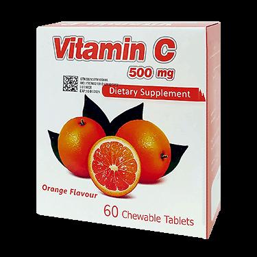 قرص ویتامین ث جویدنی 500 میلی گرم 60 عددی سیمرغ