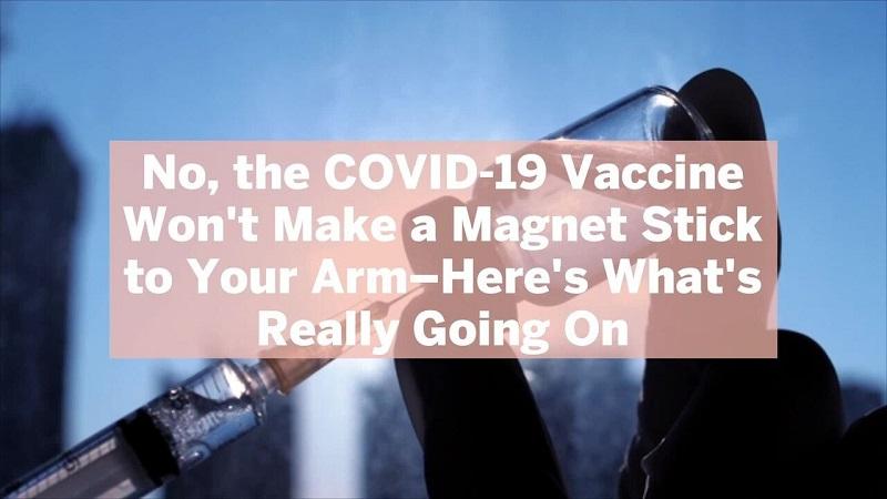 نه ، واکسن COVID-19 آهنربایی به بازوی شما نمی چسباند - آنچه در واقع اتفاق می افتد